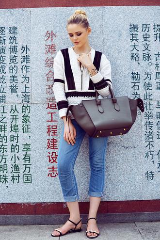 kayture blogger top jeans shoes bag jewels