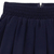 Dark Blue Elastic Waist Zipper Pleated Skirt - Sheinside.com