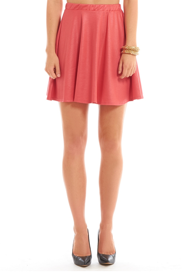 Flared Skater Skirt - Coral from ROXX at ShopRoxx.com