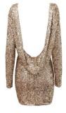 Halter Back Sequin Dress  - Juicy Wardrobe