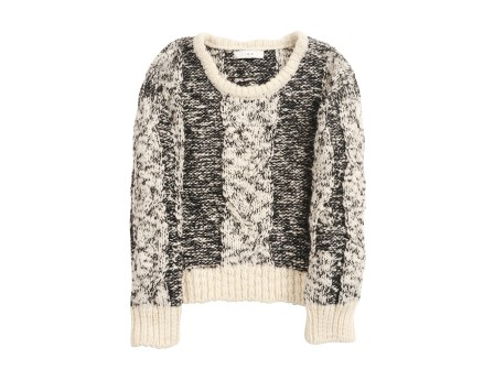 Dorita Pullover - Pullover: different stitches and cables - White & Black - Sweaters & Sweatshirts - Women - IRO