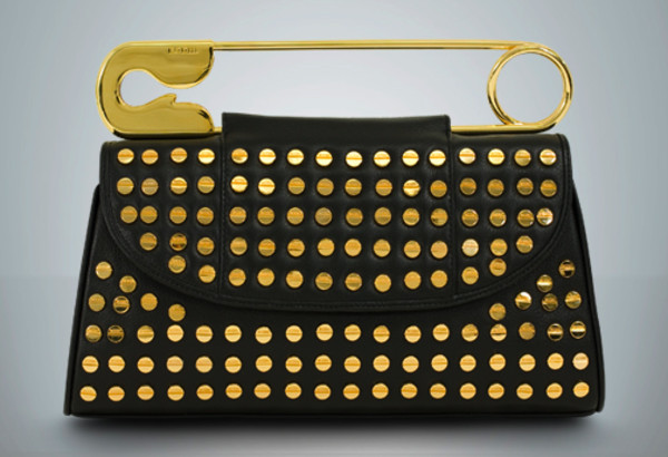 bag safety pin clutch studded clutch
