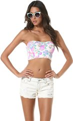 MINKPINK ELECTRIC FIELD STRAPLESS BUSTIER > Womens > Clothing > Tanks   Swell.com