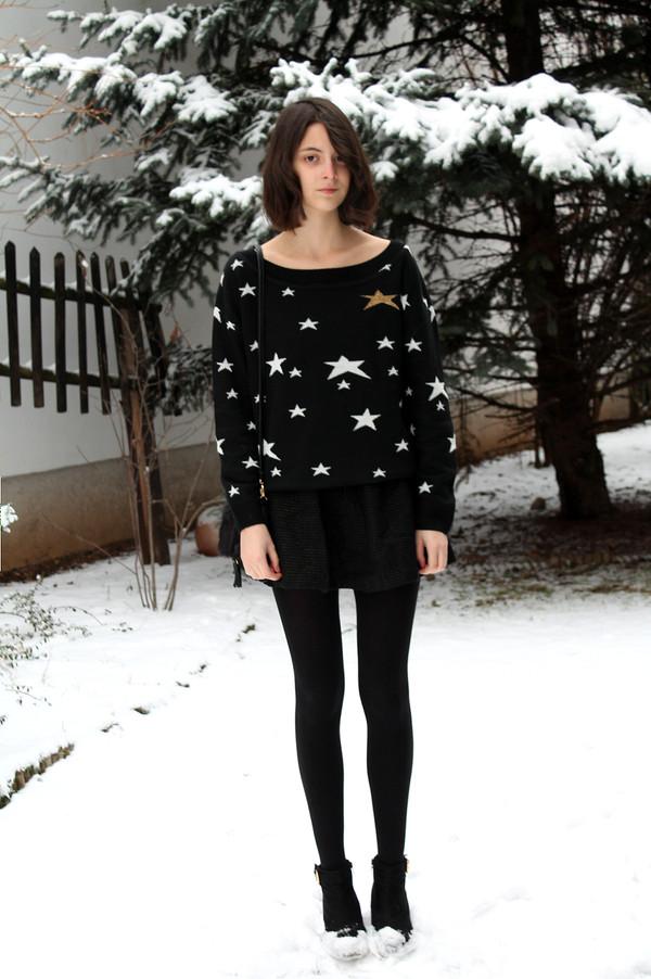 mes memos skirt sweater bag shoes