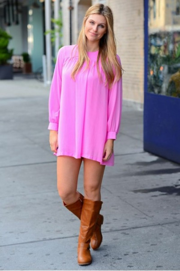 dress tunic pink tunic pink dress ootd wiwt fashion  blogger pink girly