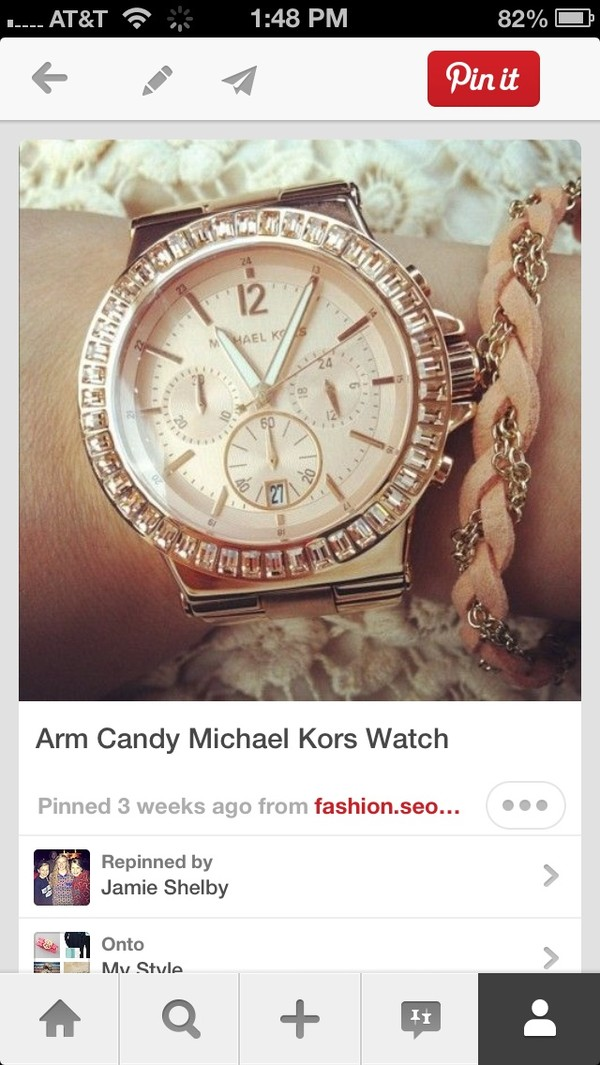 jewels watch gold michael kors