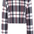 Black White Plaid Long Sleeve Crop Outerwear - Sheinside.com