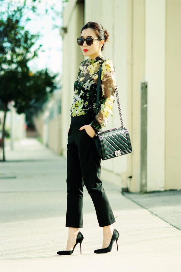 hallie daily blouse pants shoes bag sunglasses