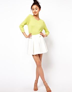 ASOS | ASOS Structured Skater Skirt with Zips at ASOS