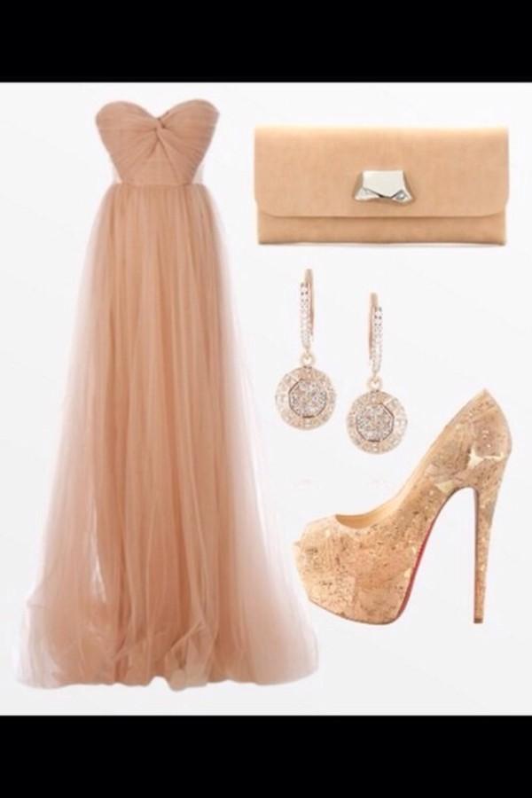 dress maxi dress nude dress maxi nude dress glamour prom dress beige dress long prom dress nude bustier dress bustier dress bag shoes