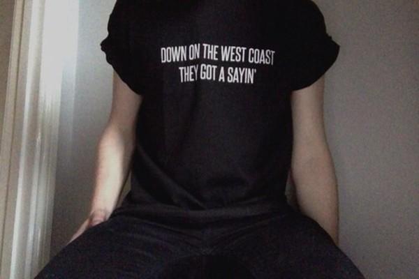 shirt black menswear west coast lana del rey t-shirt