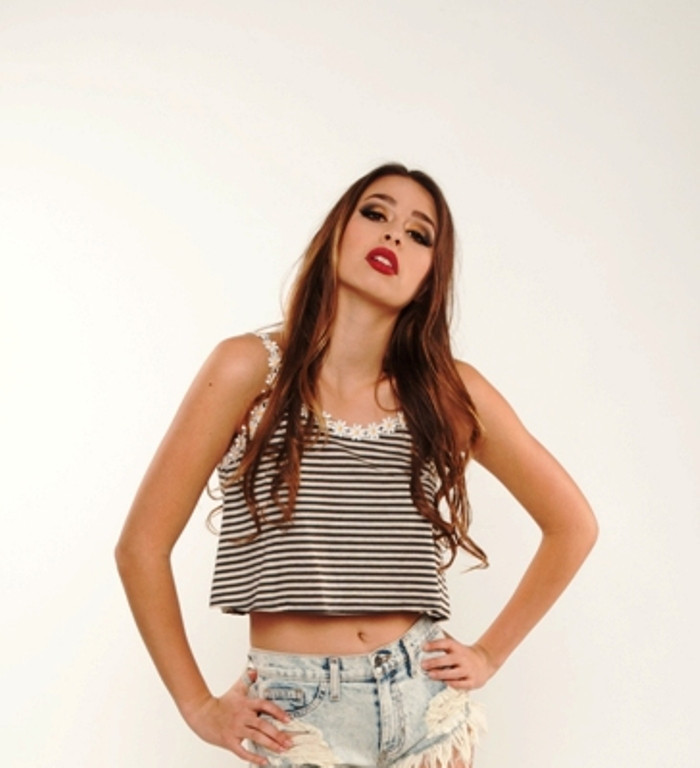 Daisies and Stripes Crop Top | Affordable Junior Clothing & Plus Sized Dresses | Shimmer