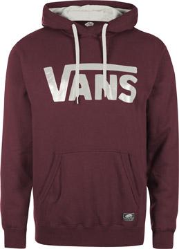 Vans Vans Classic sweat capuche bordeaux blanc dans le shop WeAre