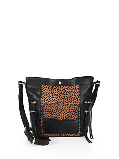 Rebecca Minkoff - Dexter Calf Hair and Leather Bucket Bag - Saks.com