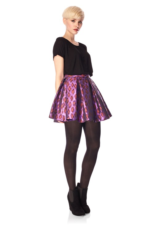 Disco Leopard Flared Skirt - Outlet - French Connection Usa