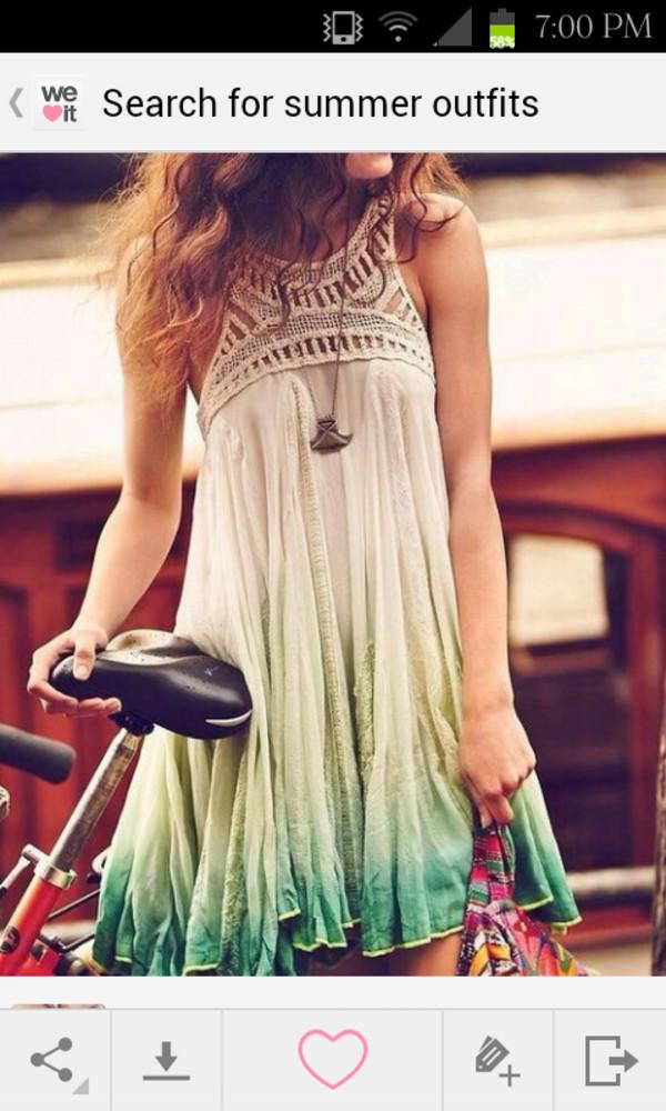 dress watercolor dress crociet dress tumblr dress