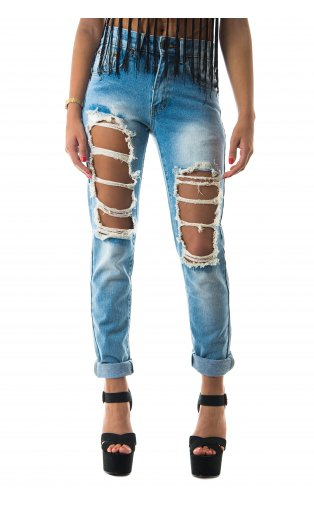 Torn Apart Blogger Distressed Jeans -  from The Fashion Bible  UK
