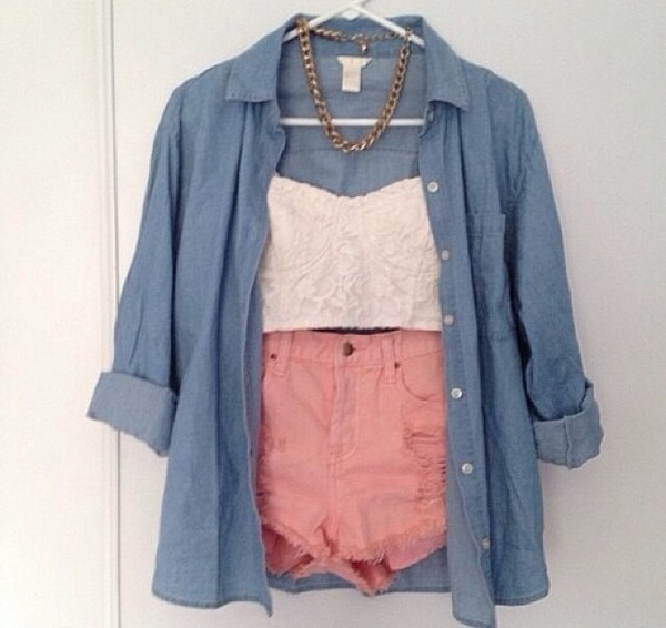 blouse tank top shorts
