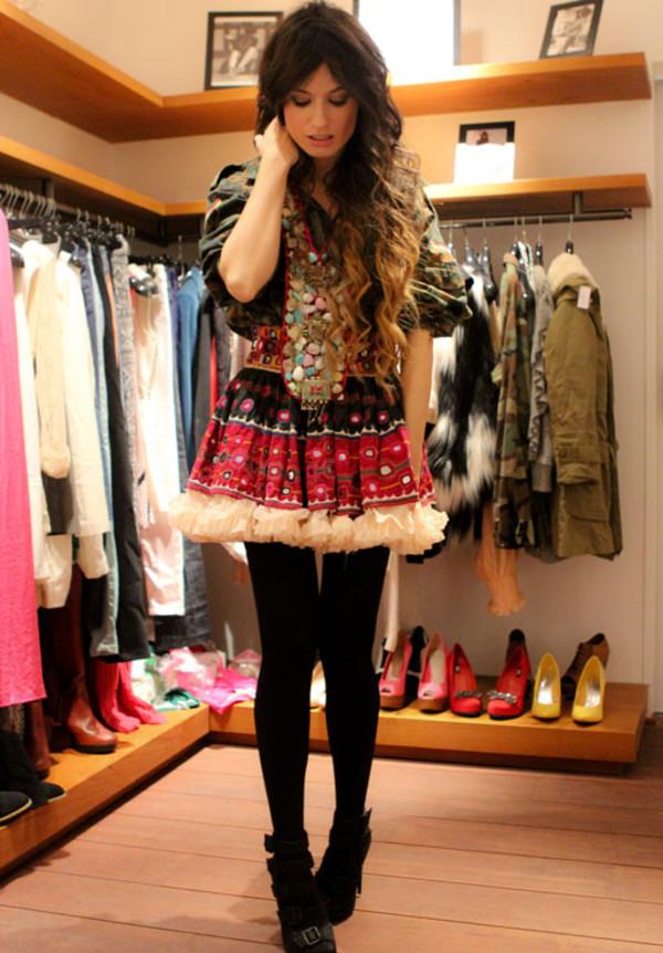 madame rosa coat skirt shoes jewels