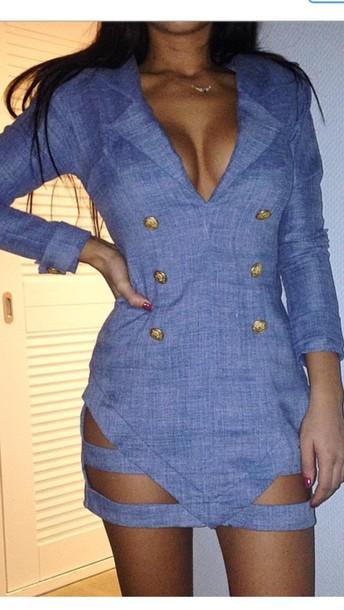 dress blazer dress blazer blue dress gold fashion