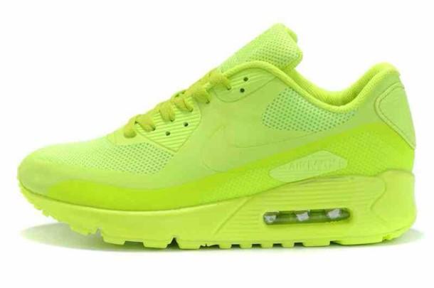 neon yellow nike air max 90
