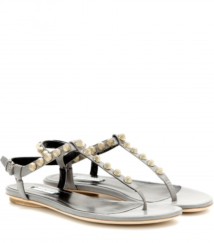 mytheresa.com -  Giant studded leather sandals - Flat - Sandals - Shoes - Luxury Fashion for Women / Designer clothing, shoes, bags