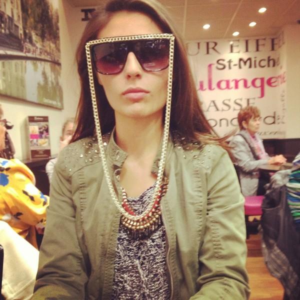 sunglasses jacket swimwear demin jacket necklace