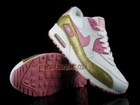 White Pink Gold Nike Womens Air Max 90 Cheap Discount Sale-Buy Nike Air Max 90 Womens Sneaker