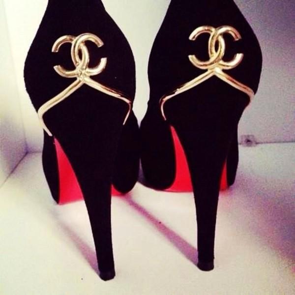 shoes black patent shoes high heels stilettos pumps black high heels gold