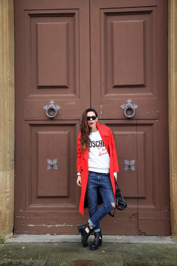 irene's closet sweater shoes jeans coat bag