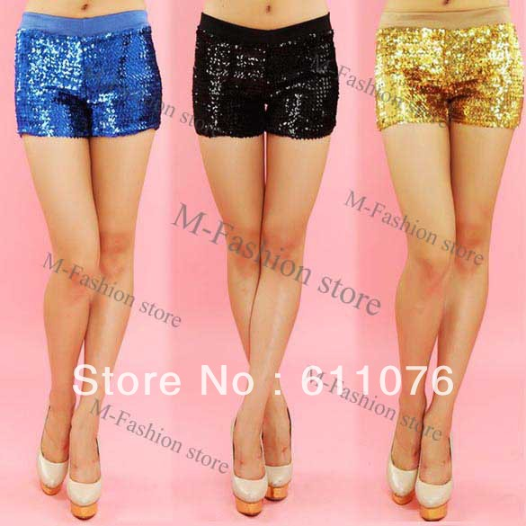 Fashion Women's Sequins Shorts Costume Shorts Dance Performance Shorts Hot Pants 14344-in Shorts from Apparel & Accessories on Aliexpress.com
