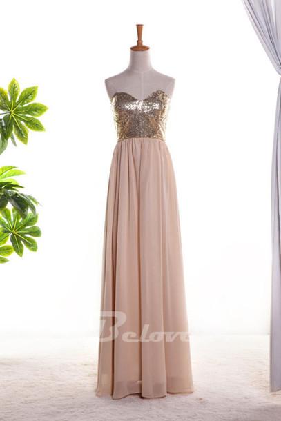 dress 2015 nude prom dresses chiffon sweetheart prom dress