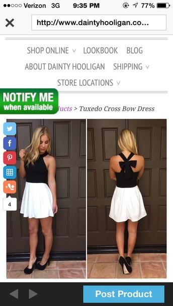 dress tuxedo cross bow dresss