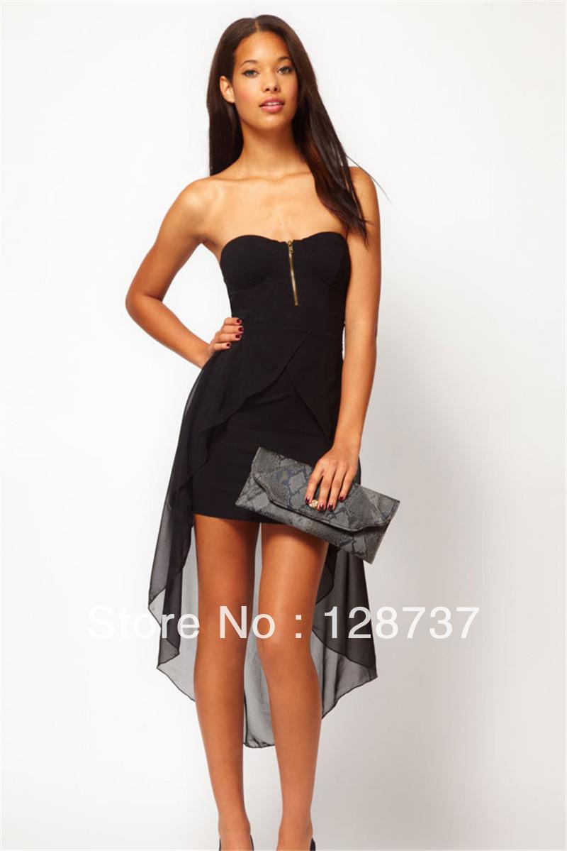 Free Shipping 2014 New fashion Sexy Bandeau Dress With Asymmetric Hem Blusa De Renda Vestidos Fiesta-in Dresses from Apparel & Accessories on Aliexpress.com