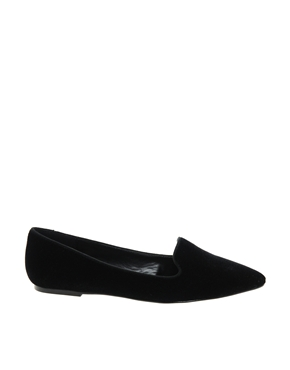 Mango | Mango Velvet Pointed Slipper Shoes at ASOS
