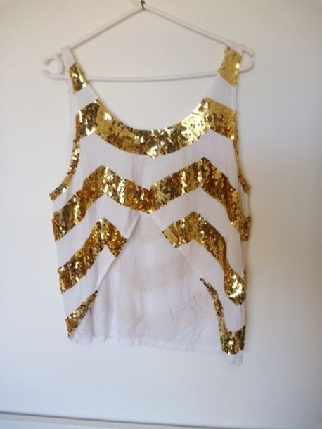 blouse clothes crop tops gold
