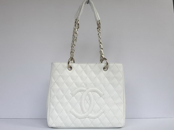 Chanel Classic Bag Fancy Bag Quilted CC Tote Bag 35626 White Sole outlet on sale