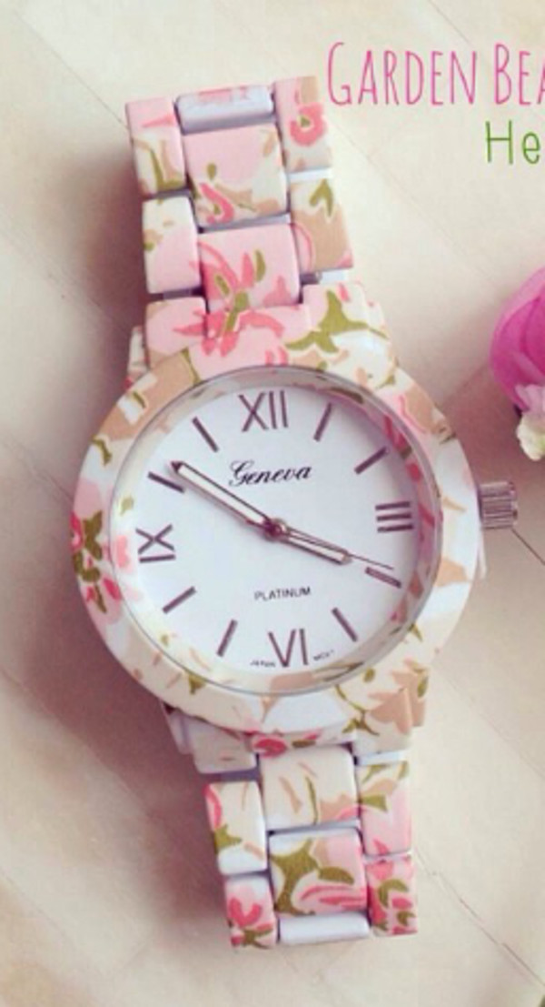 jewels watch floral watch cute