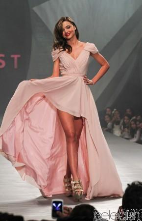 Buy Miranda Kerr Pink Runway Dress at the Liverpool Fashion Fest from celeblish.com