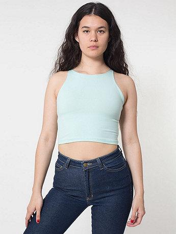 Cotton Spandex Sleeveless Crop Top | American Apparel