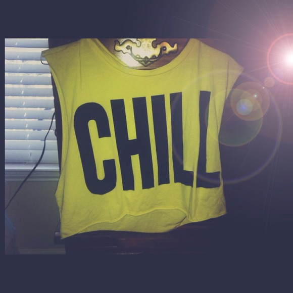 "27% off Forever 21 Tops - ""Chill"" graphic crop tee from Holly's closet on Poshmark"