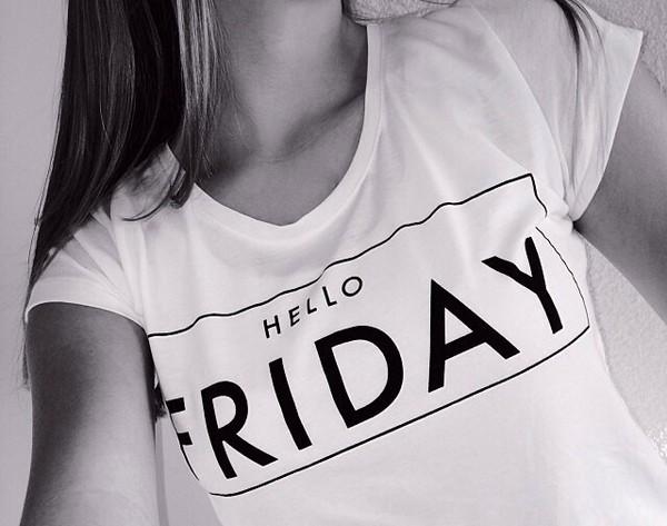 t-shirt hello friday