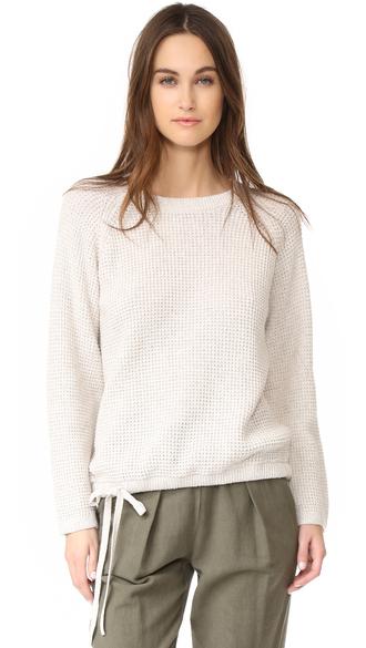 sweater madewell fashion clothes drawstring sweater wafflestitch