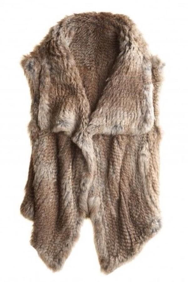 coat faux fur faux fur vest