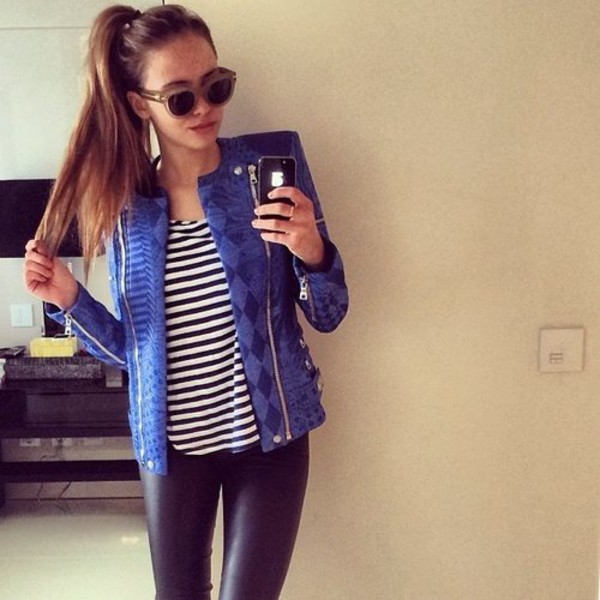 jacket blazer summer outfits blue jacket trendy girly jeans