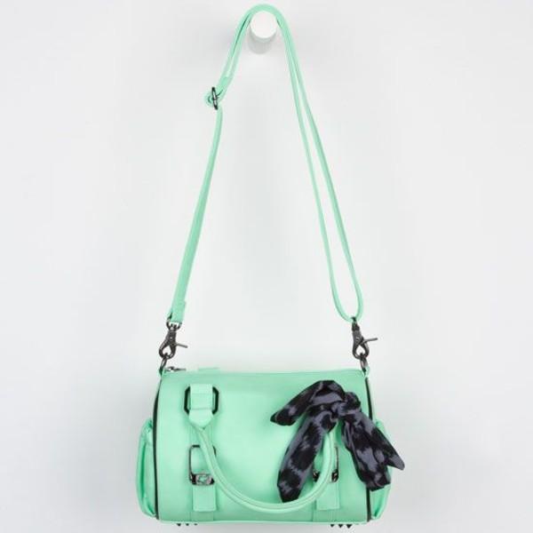 bag green mint purse