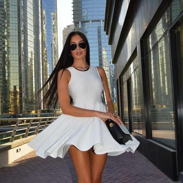 dress white dress skater dress mini dress mini dress
