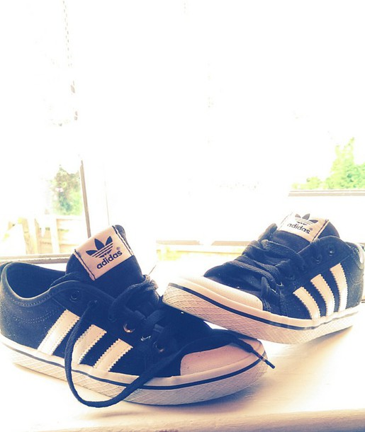 shoes adidas black trainers casual