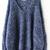Navy Long Sleeve V Neck Oversize Mohair Sweater - Sheinside.com