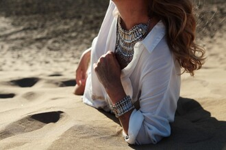 my daily style t-shirt jewels statement necklace